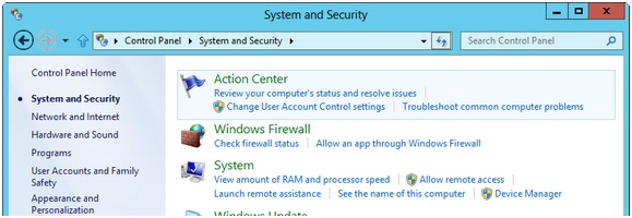 how to change settings on action centre