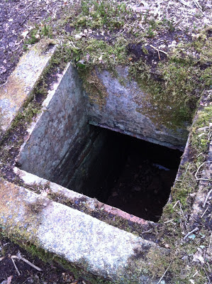 Underground bunker with hidden geocache
