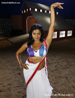 Priyamani Hot Saree photos-Priyamani Hot white Saree photos from tilkka movie