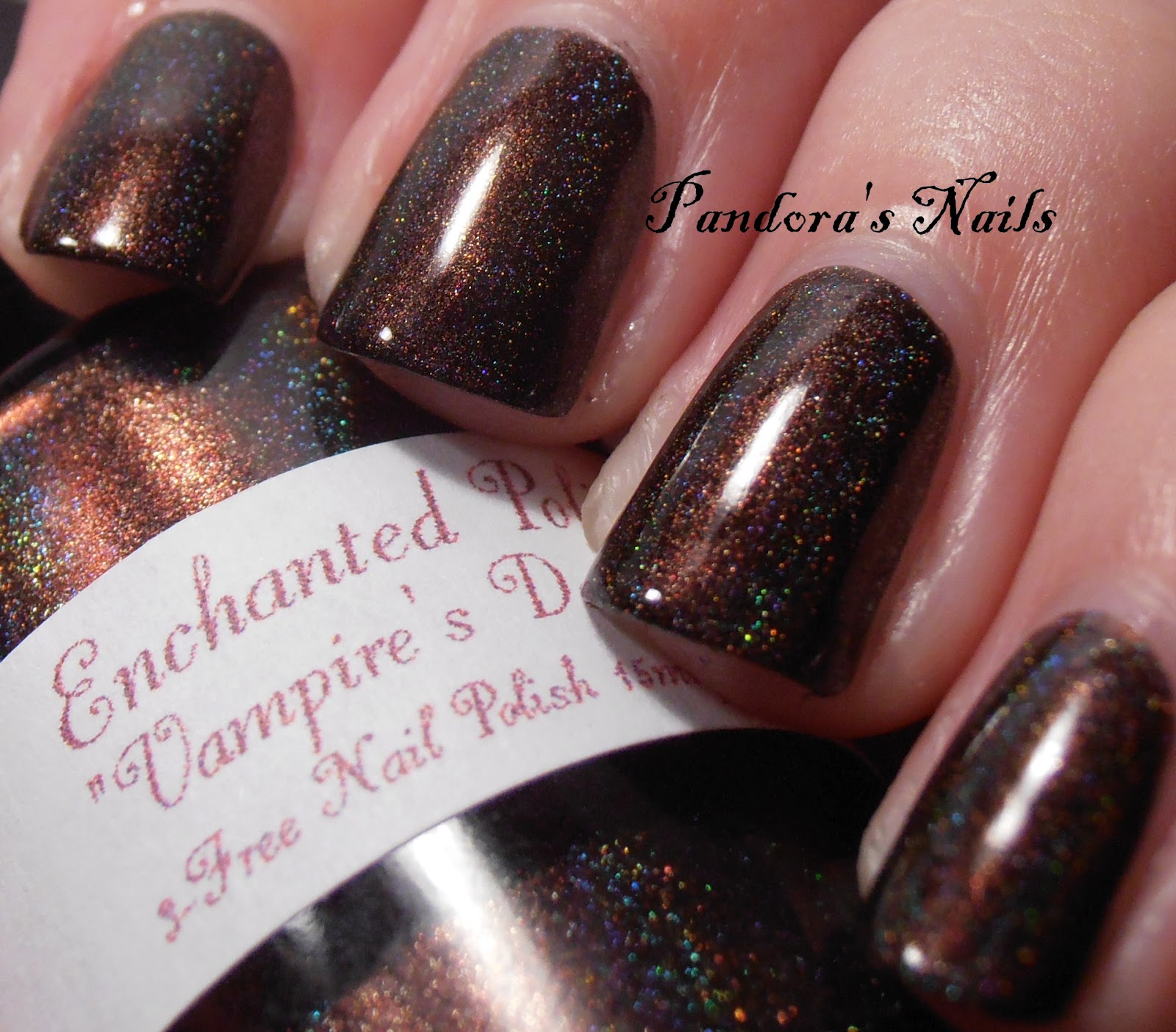 Vampire Nail Polish: Pandora's Nails: Enchanted Polish Vampire's Dessert