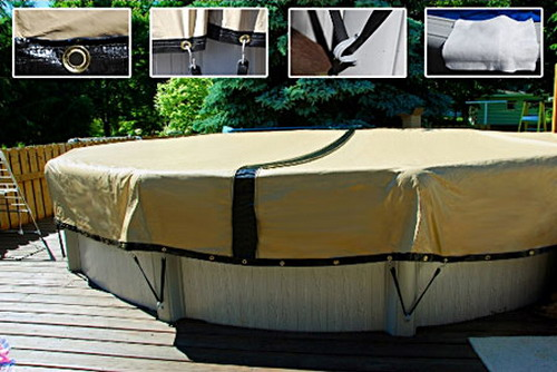 Knowing the different types and materials of above ground for Above ground pool cover ideas