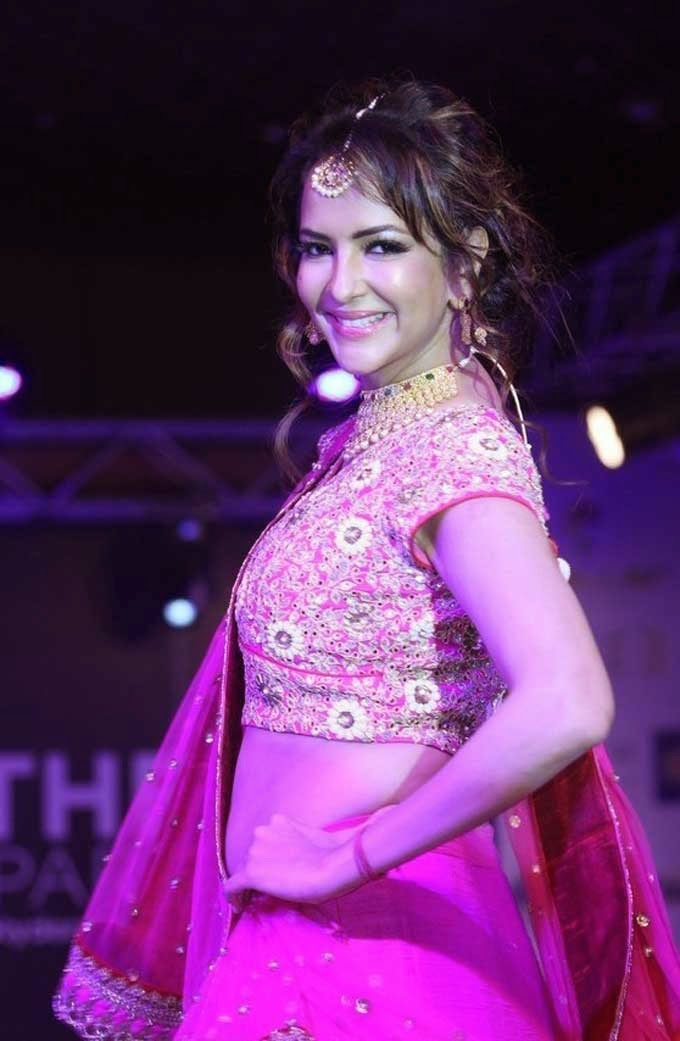 Manchu Lakshmi In Lehenga at Teach For Change Fashion Show