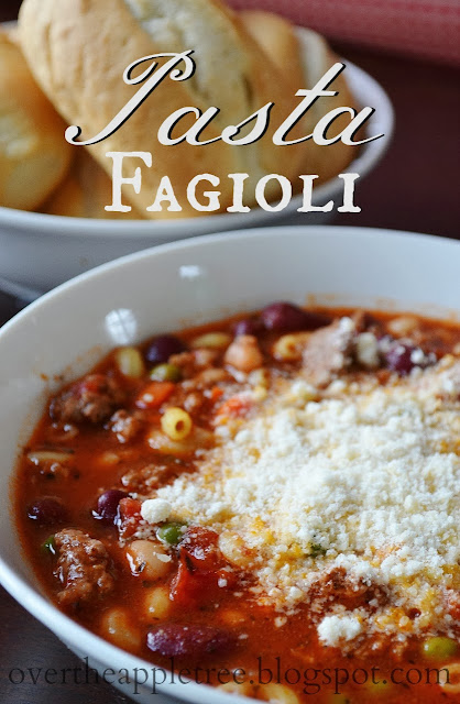 Pasta Fagioli Recipe by Over The Apple Tree