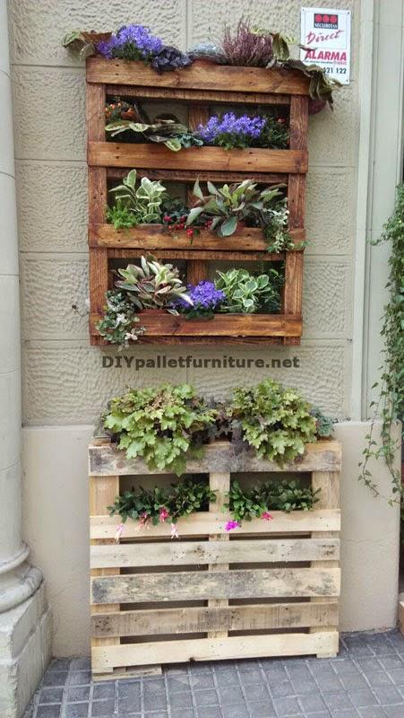 Decoraci n urbana con jardineras de - Macetas hechas con palets ...
