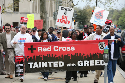 Marching against Red Cross greed in Washington