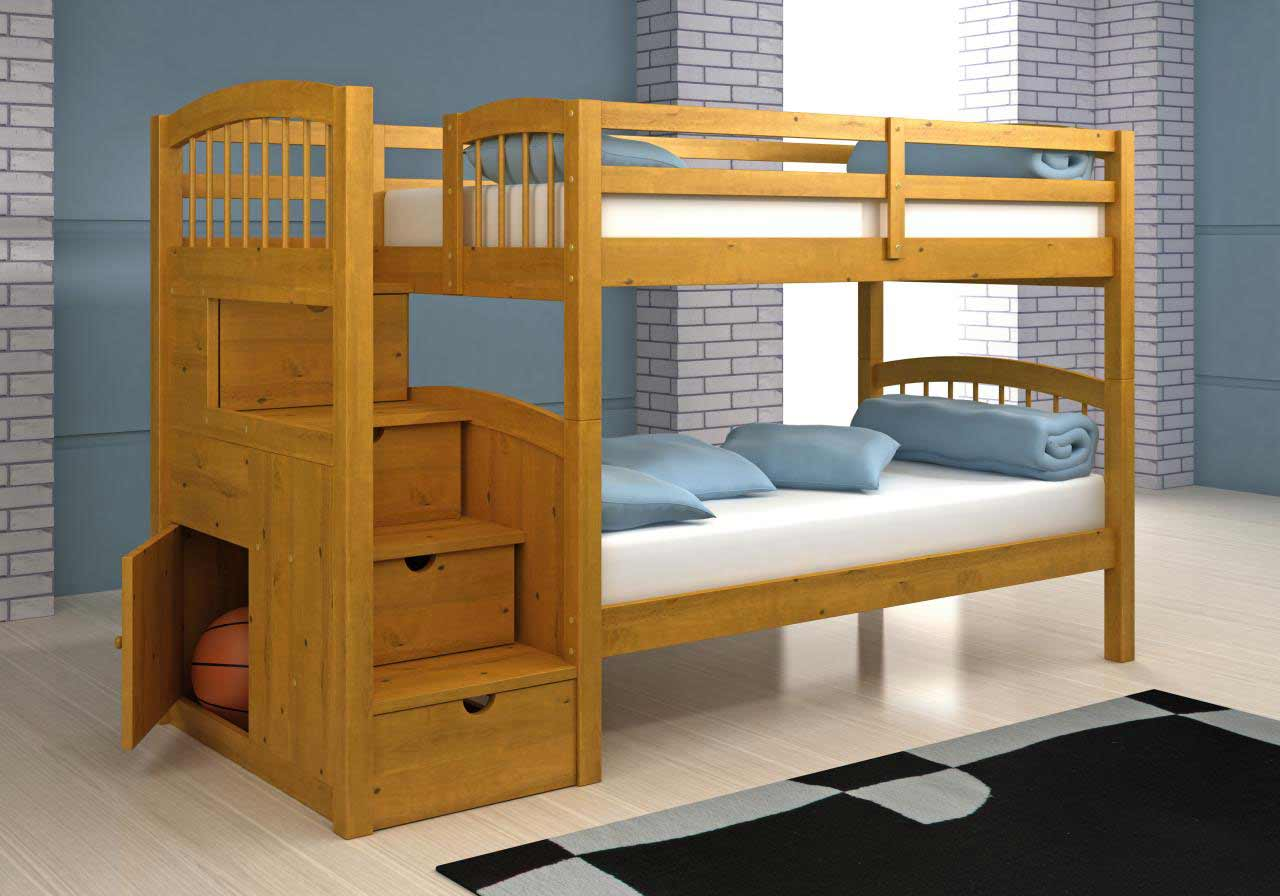 Best bunk beds childrens bunk beds with stairs for Bunk beds for kids with stairs