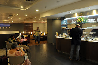 Lufthansa business class lounge at Mumbai