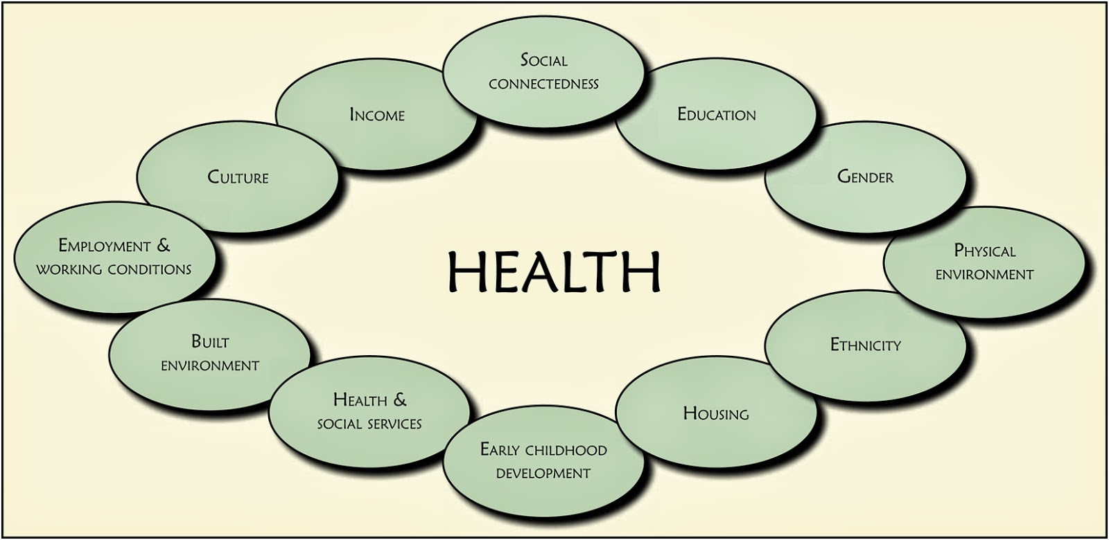 socioeconomic determinants of health The social determinants of health in poverty describe the factors that affect impoverished populations' health and health inequality inequalities in health stem from the conditions of people's lives, including living conditions, work environment, age, and other social factors, and how these affect people's ability to respond to illness.