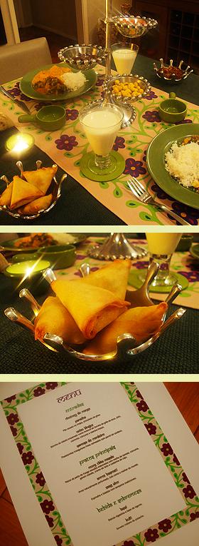 Jantar indiano para dois