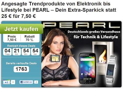 25 Euro-Gutschein für Pearl (Trendprodukte von Elektronik bis Lifestyle) bei DailyDeal für 6,75 Euro