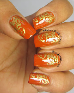 Barry M Foil Effect Gold MoYou London Pro Collection 04 Stamping