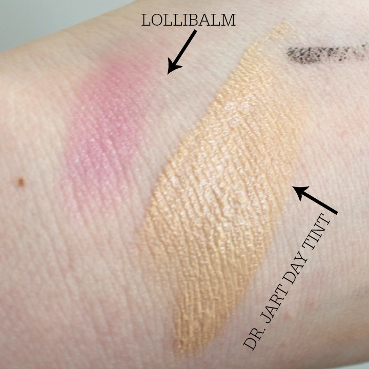 Dr. Jart+ Ceramidin Day Tint Benefit Lollibalm swatch swatches