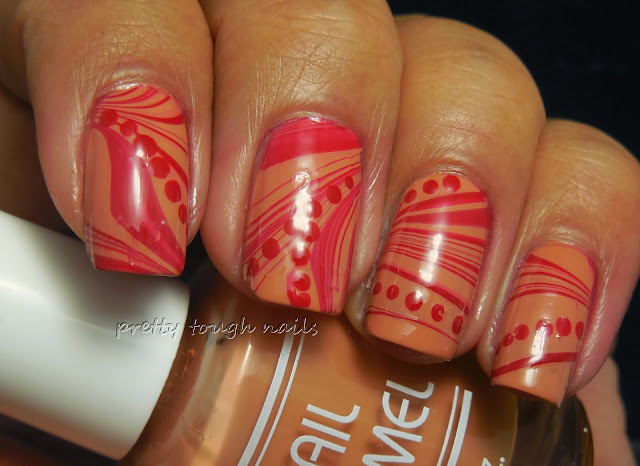 Halloween Blood Watermarble Nails With Bettina Julietta And LA Spash Red Sea