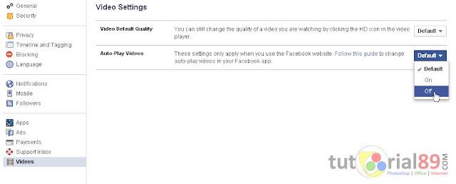 Cara mudah mengatasi video facebook yang autoplay