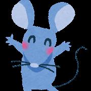 ネズミのイラスト・子年