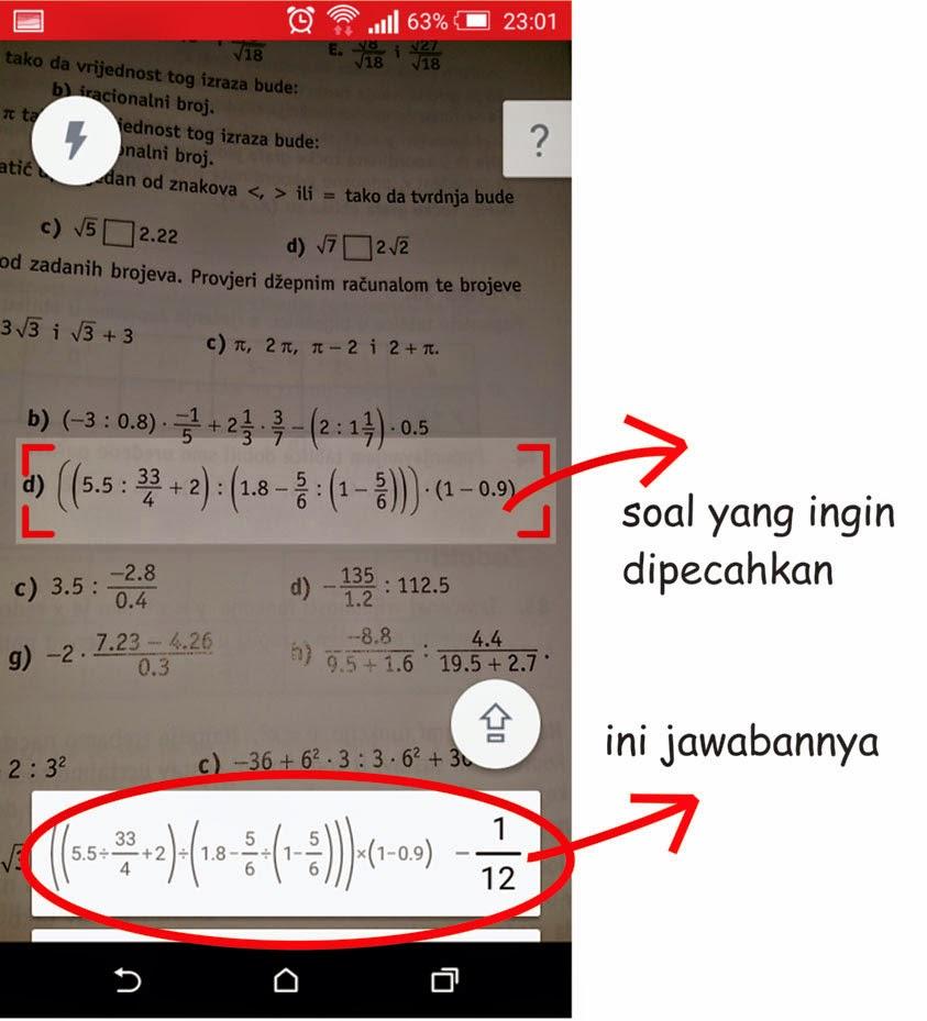 Menyelesaikan Soal Matematika Dengan Mudah Menggunakan Smartphone Android