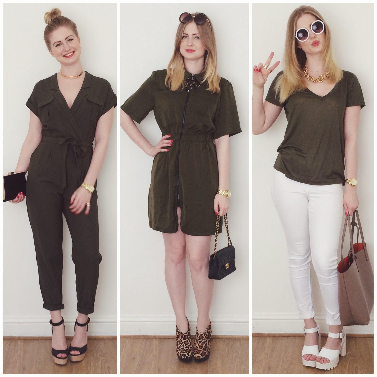 FashionFake, UK fashion and lifestyle blog, khaki style edit, khaki lookbook