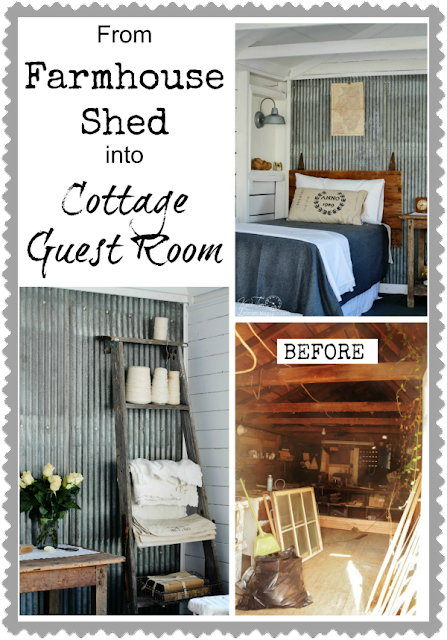 Shed Remodel into Guest Room via Knick of Time @ knickoftimeinteriors.blogspot.com