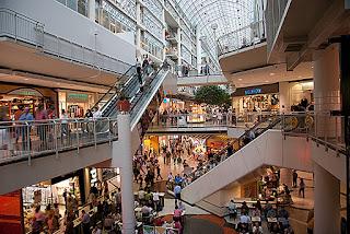inside Eaton Centre Toronto