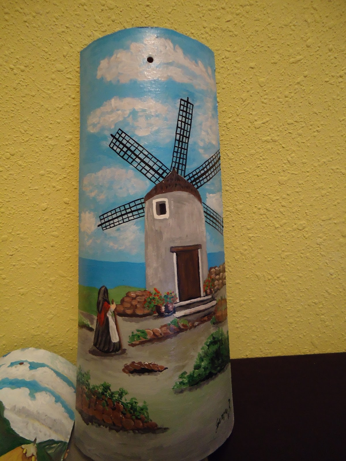 Manualidades tejas pintadas tejas pintadas a mano for Pintura para tejas