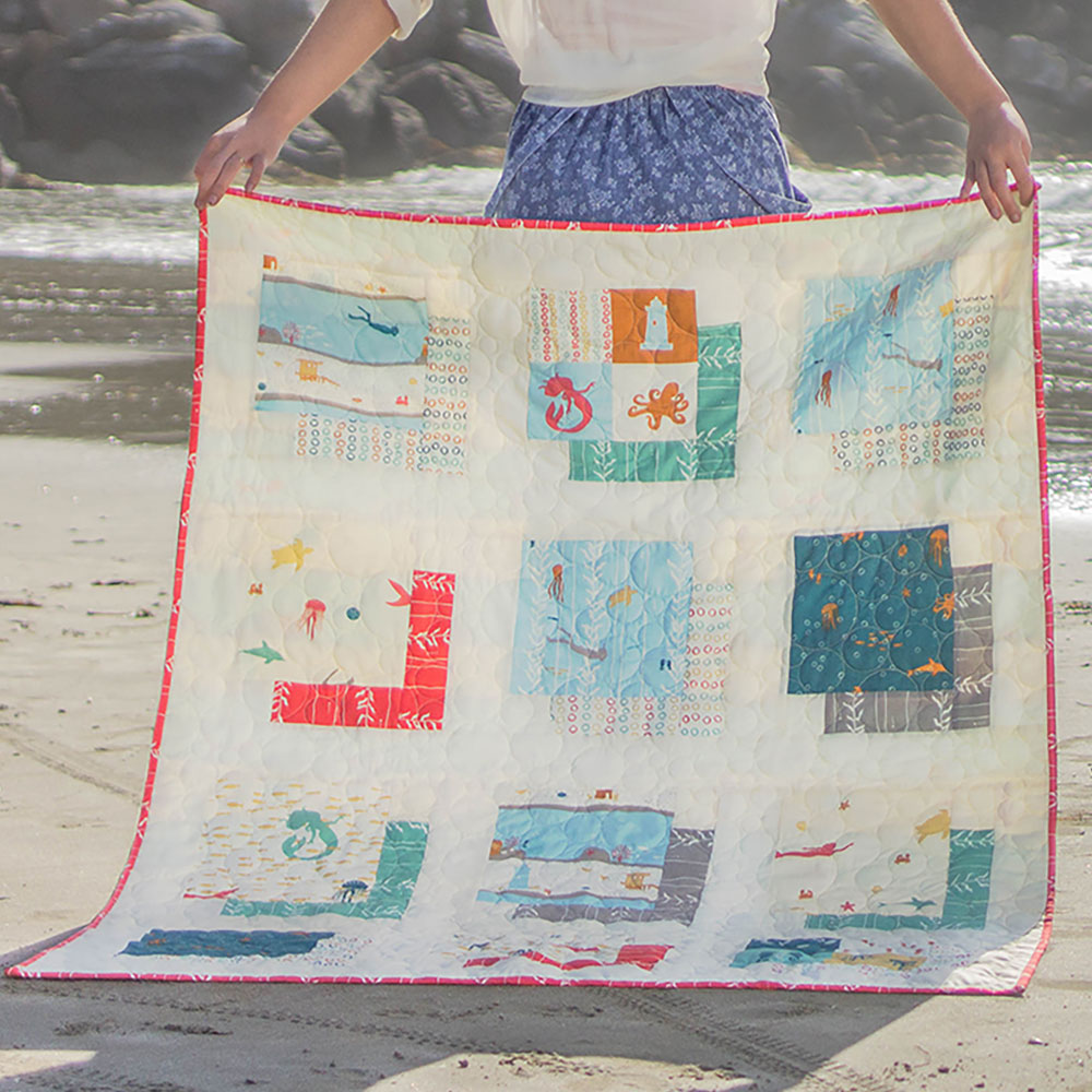 Sea Squared Free Quilt Pattern