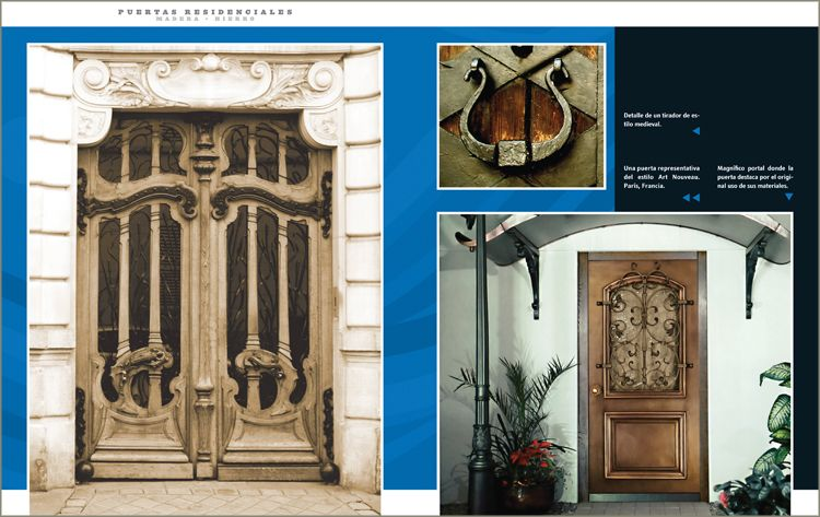 Portones puertas residenciales pelautscom picture car for Portones de madera y hierro