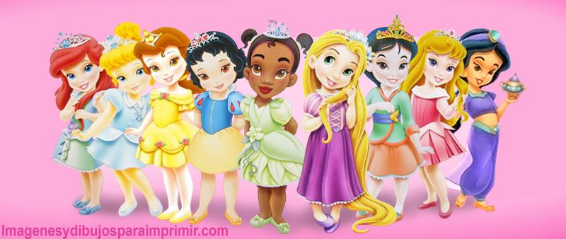 Princesas Disney Bebes Dibujo