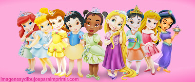 Princesas disney bebes dibujo para imprimir