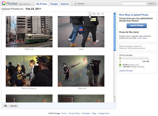 Jednostavniji upload u Picasa Web Albums slike video