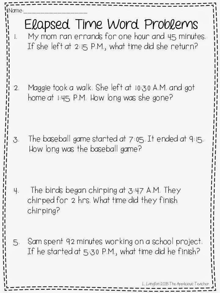 Time word problem solving ks2