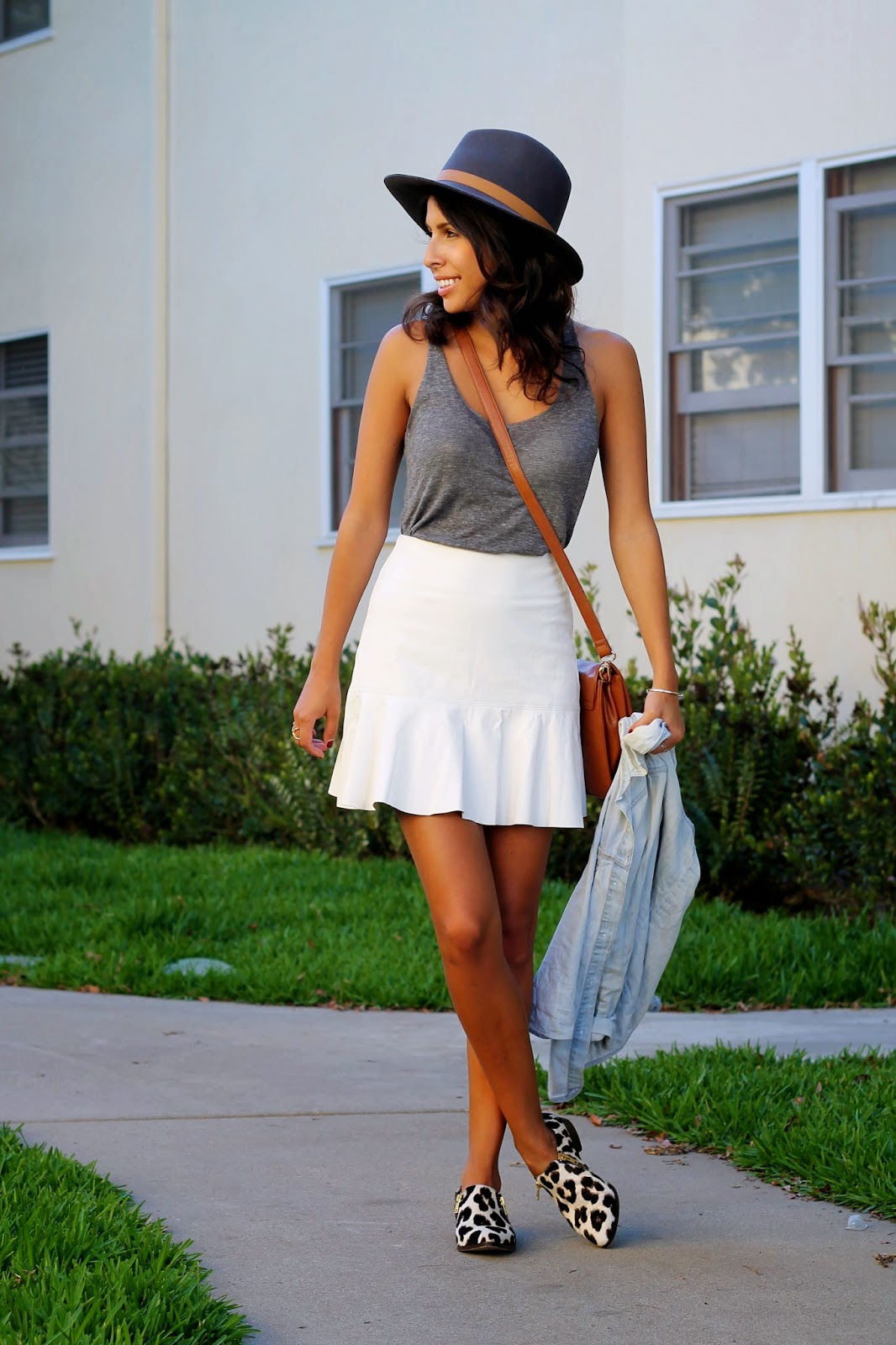 lulus fall outfit, leather skirt, hat, what is fashion, fall fashion