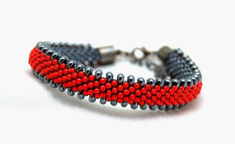 bransoletka koralikowa bead crochet bracelet inati zare 18