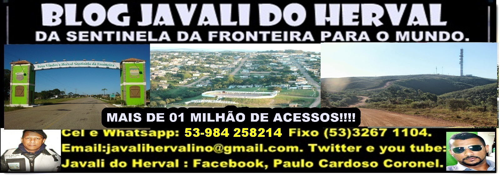 BLOG JAVALI DO HERVAL  javalihervalino@gmail.com  (53) 84258214