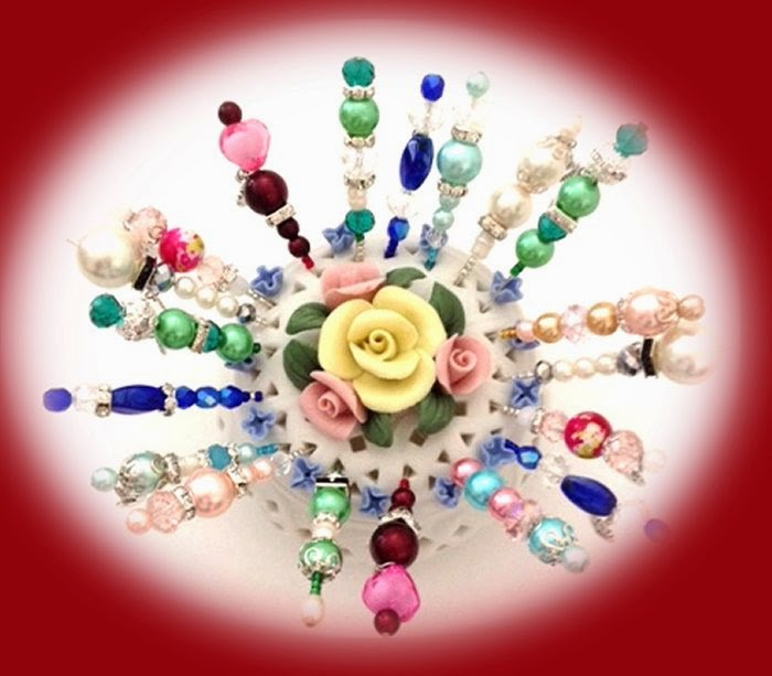 Craft creations gorgeous decorative hat pins for Decorative pins for crafts