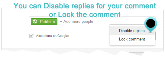 lock comment or disable replies in google plus comment box in blogger