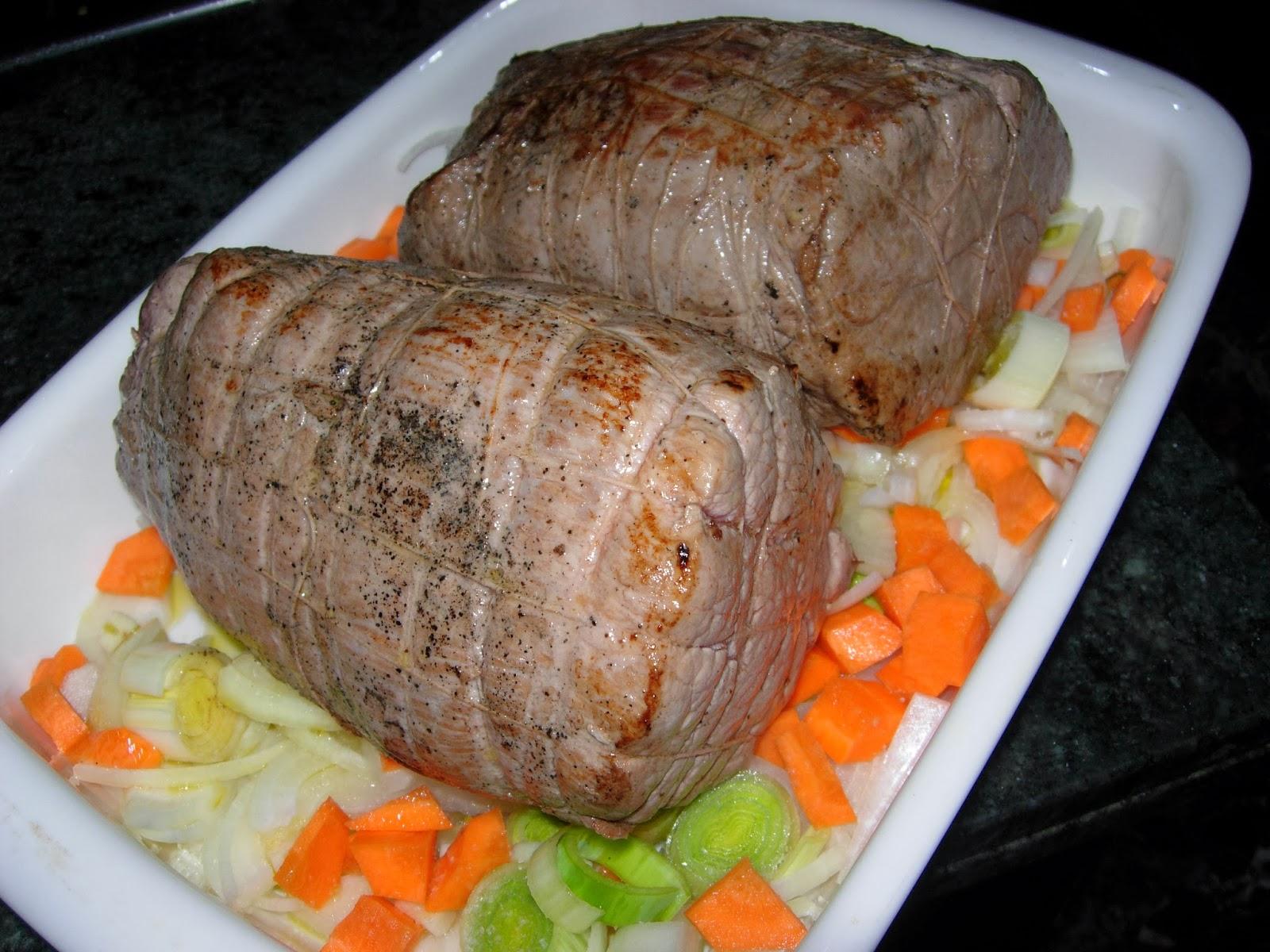 Trucos y recetas de landa redondo de ternera al horno o asado - Redondo relleno de ternera al horno ...
