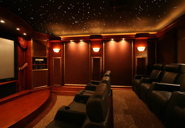 Led Ceiling Lights Home Theatre : Cinema home theater decoration hints and tips