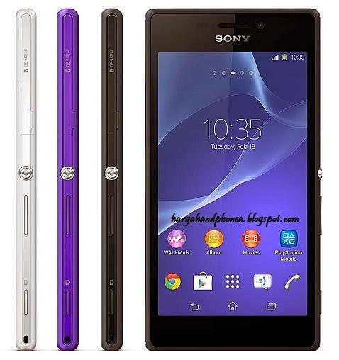 Harga Sony Xperia M2 dan Spesifikasi Lengkap