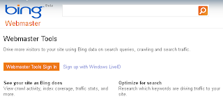 Bing URL Submission Page.