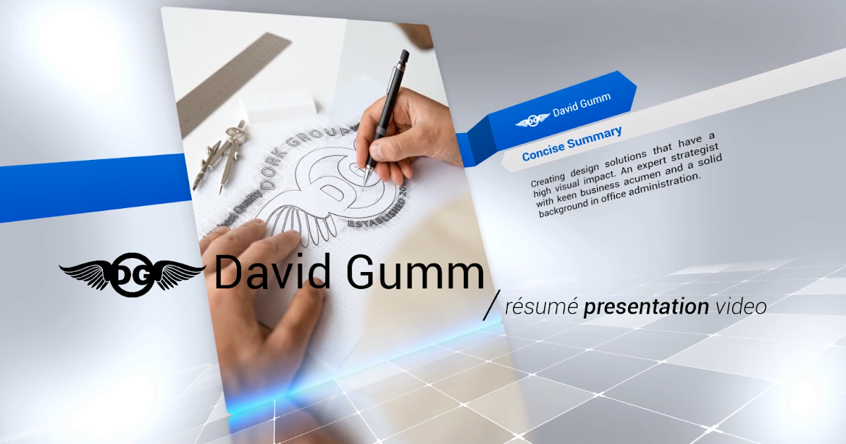 the dork group david gumm s résumé presentation video