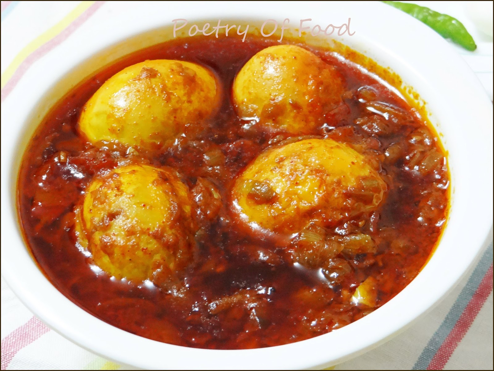 Poetry Of Food: Spicy Egg Curry( Kosha Dim)...!!