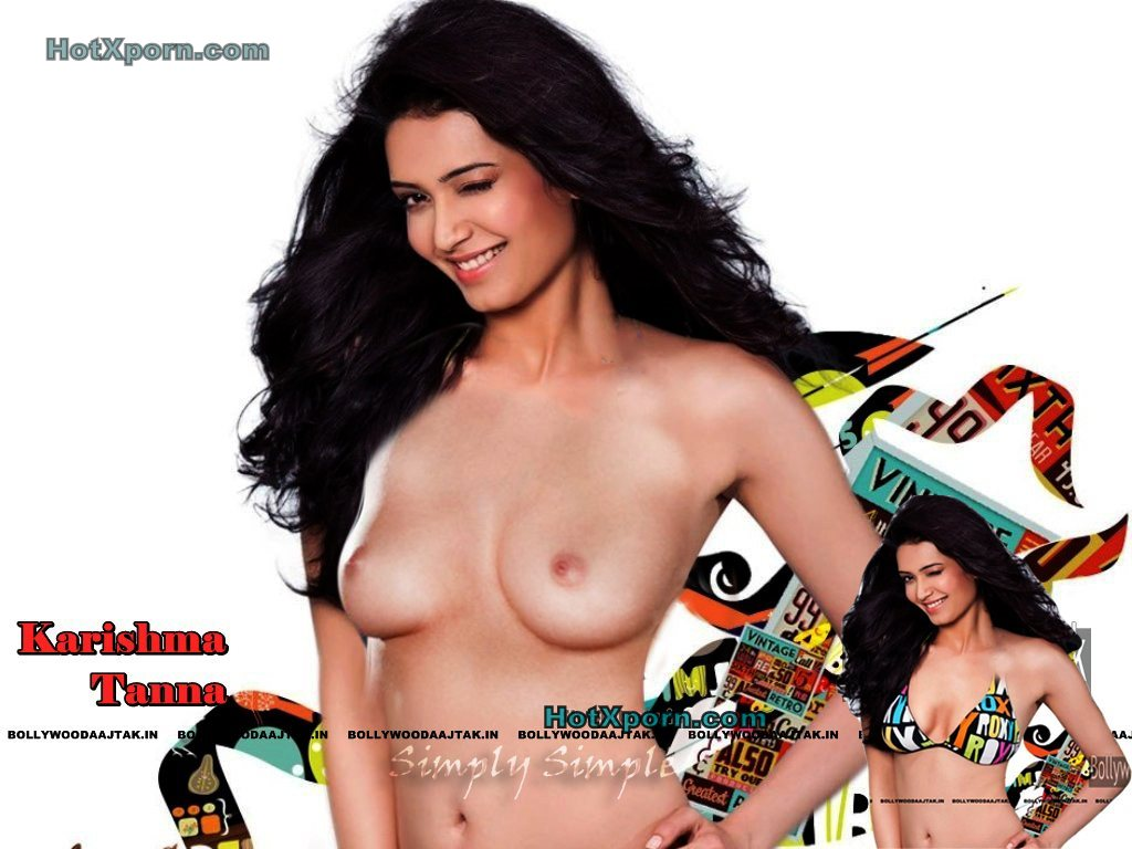 TV Actreess Nude Karishma Tanna Removed Her Bra To Show Breast Fake