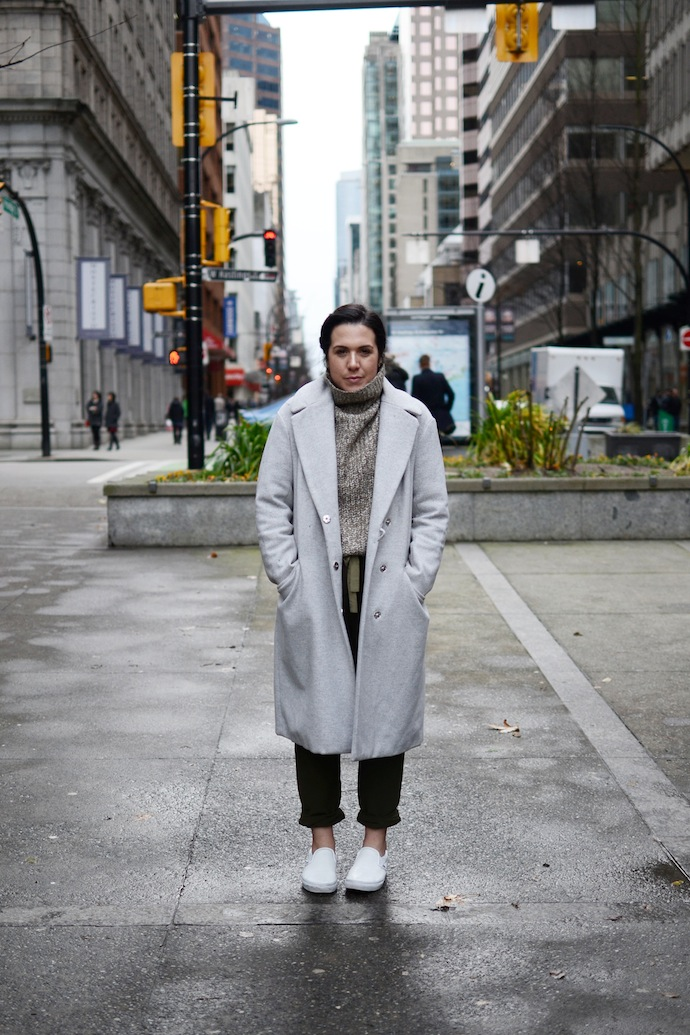 Joe Fresh turtleneck sweater Wilfred Allant pants Vancouver fashion blogger outfit