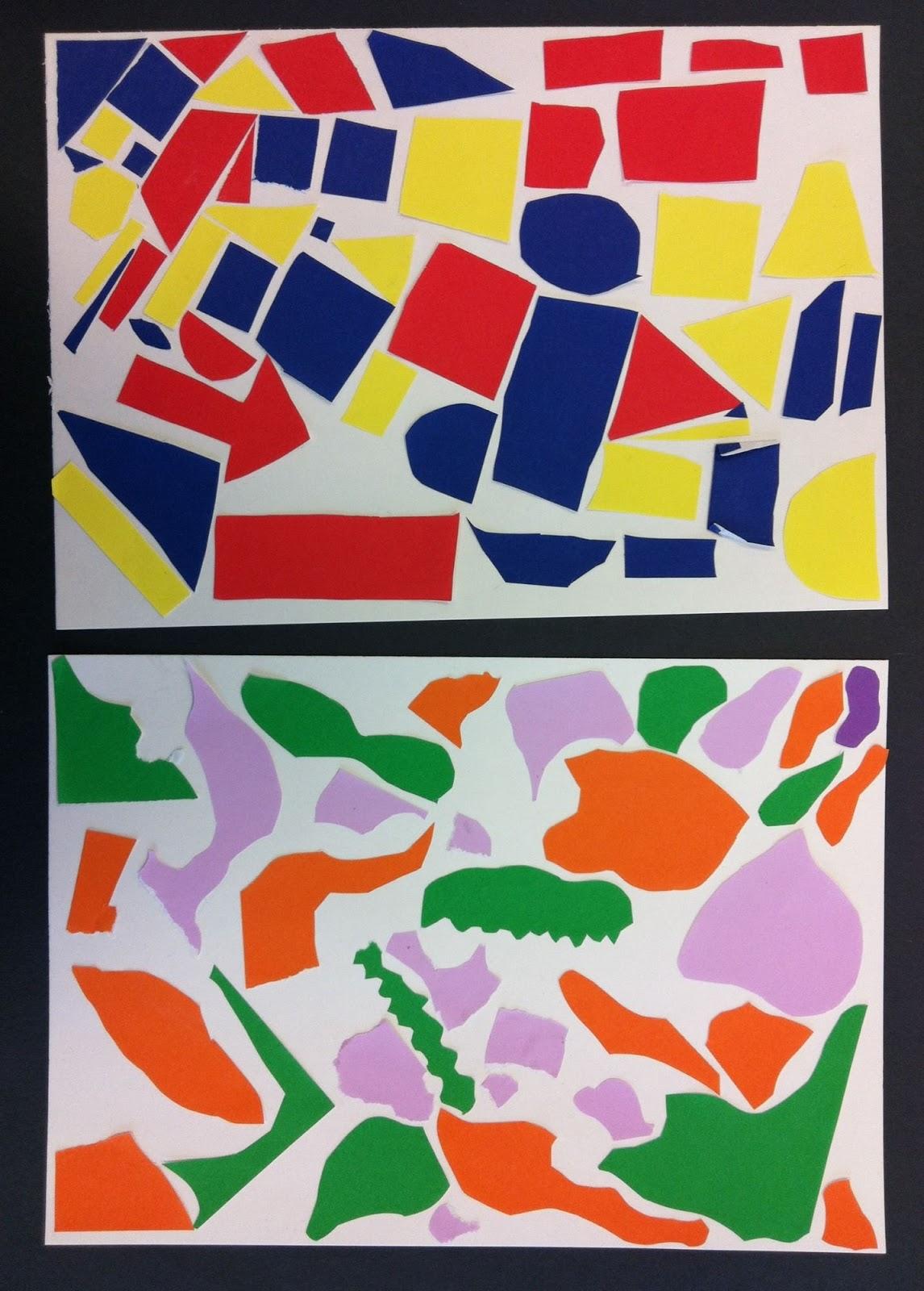art room 104: 2nd grade shape collages