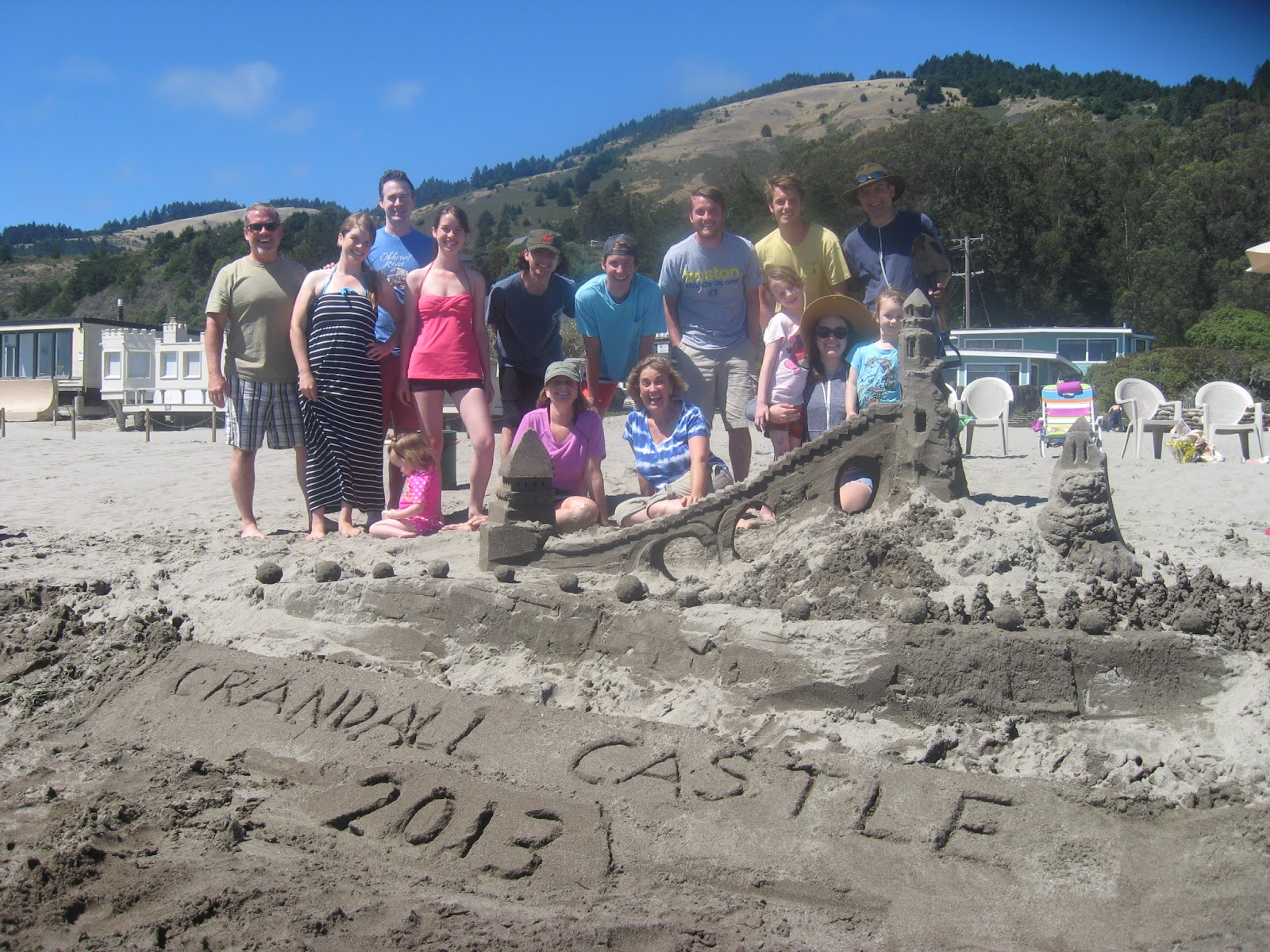 my kids eat off the floor: Stinson Beach: sandcastles ...