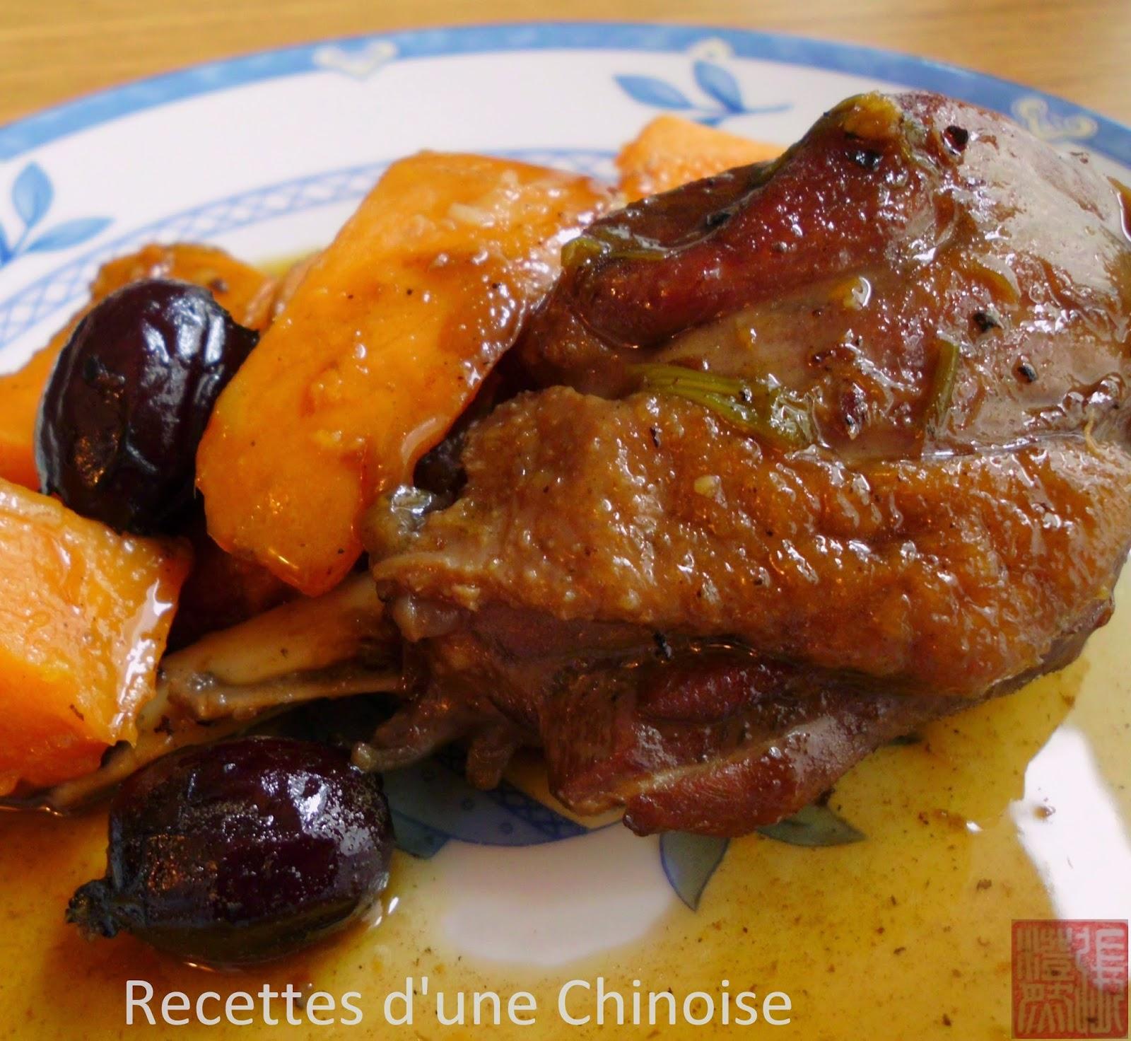 Recettes D Une Chinoise Cuisses De Canard Mijotees Avec Patate
