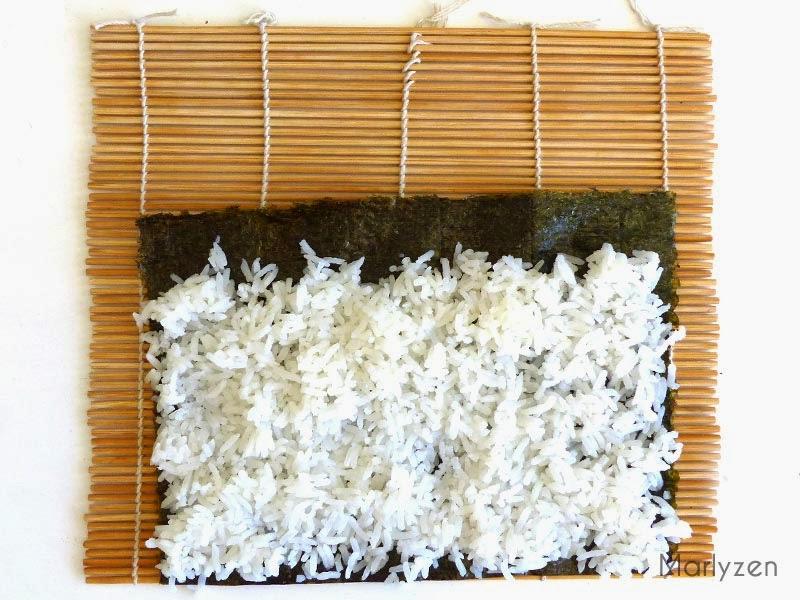 Ajoutez le riz vinaigré.