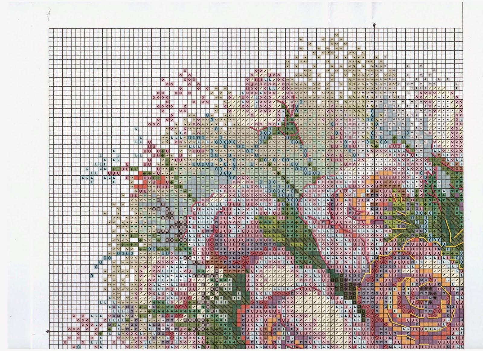 Вышивка крестиком риолис розы