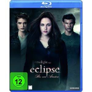 Twilight Biss zum Abendrot, Bis(s) zum Morgengrauen und Biss zur Mittagsstunde bei Amazon auf Blu-ray für 7,97 Euro