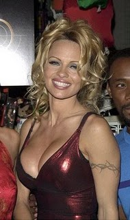Pamela Anderson Tattoos - Female Celebrity Tattoo Ideas